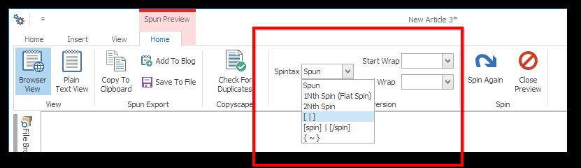 Spintax Converter