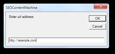 URL input box
