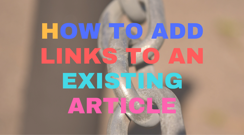 How to add links to an existing article