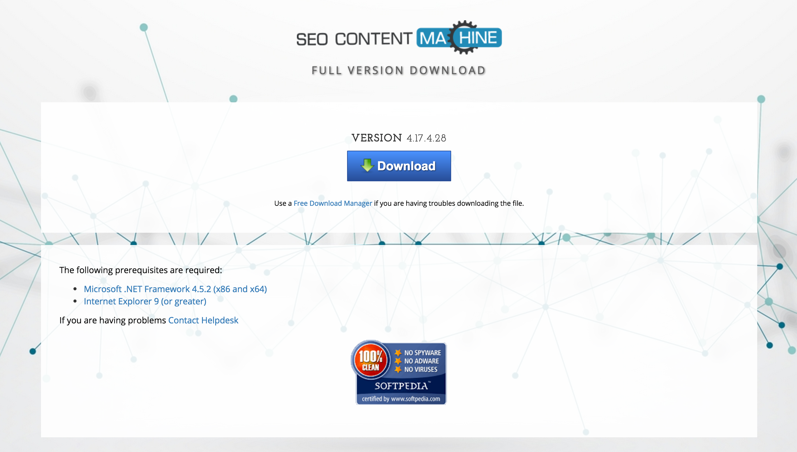 Redesigned download page — SEO Content Machine